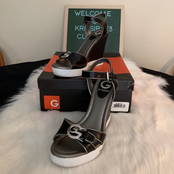 G by Guess Shoes - G by Guess Mandy Wedge Sandal Size 7.5
